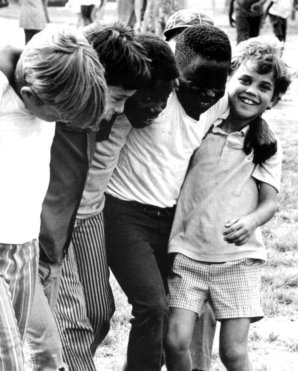 Children after integration at the Vineland Elementary School in Dade County. (1971) | Florida Memory