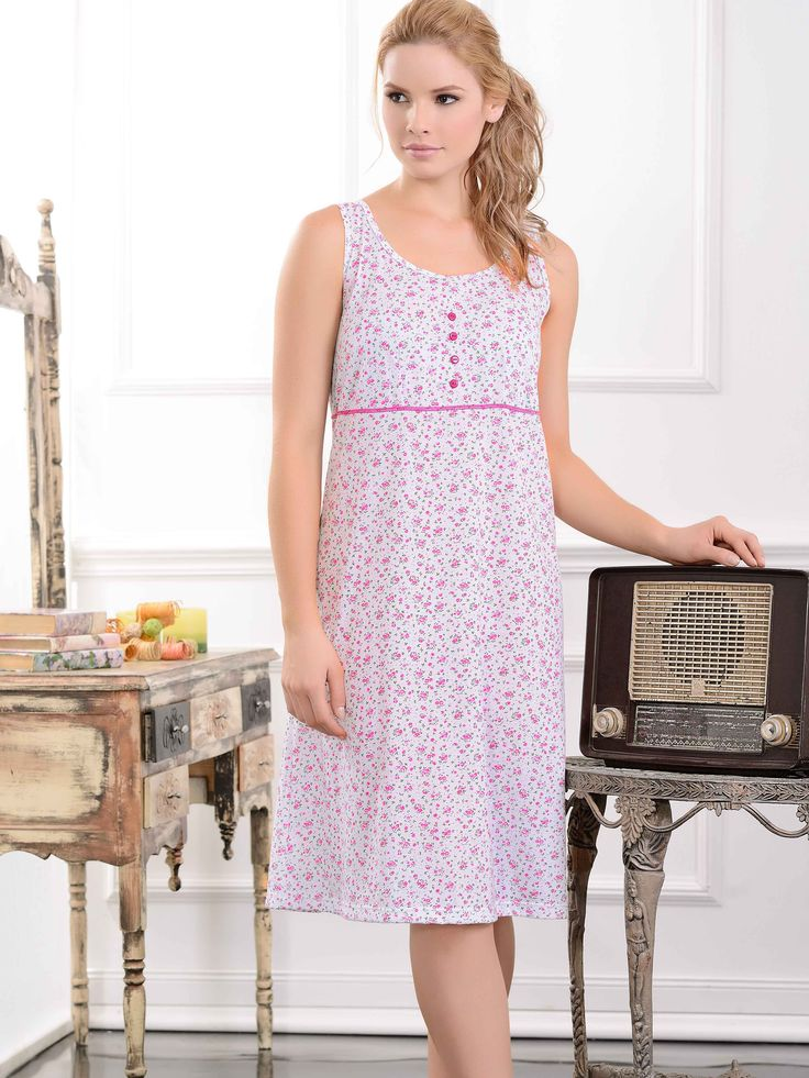 Batola / Sleepdress / 32912/  Femenina batola estampada, con delicados detalles...  Tallas / Sizes / S - M - L - XL - XXL