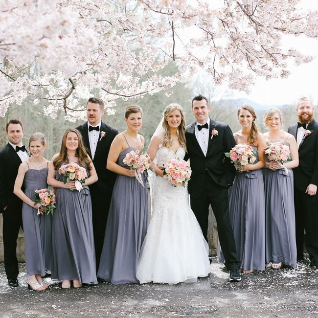 Gray And Black Wedding Party Allan Zepeda Photography Www Theknot