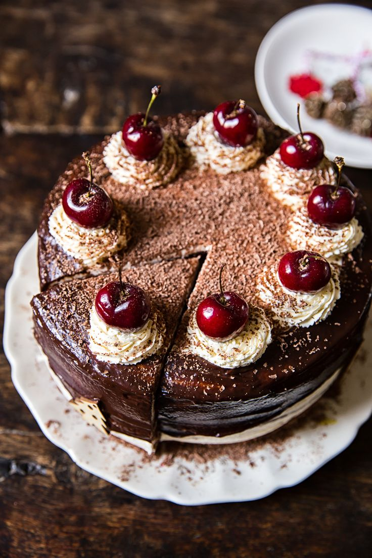 Black Forest Cake (a true dessert fave of mine!). #Valentines #desserts