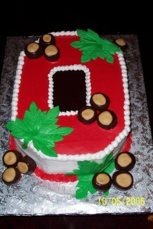 28 best Ohio State Buckeyes Cakes images on Pinterest ...