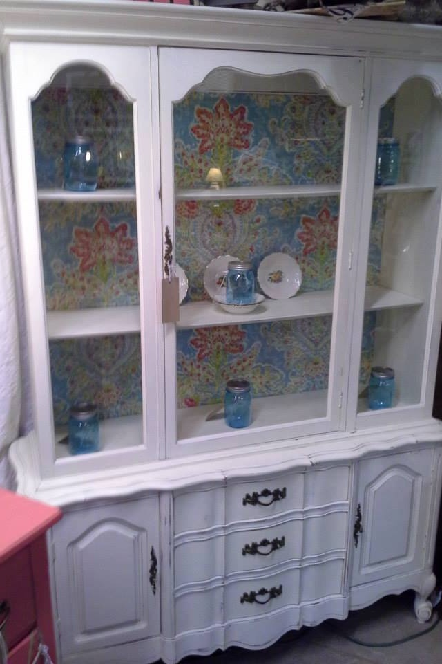 idea for china cabinet redo