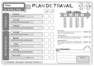 CM • Plan de Travail • Feuille de route ~