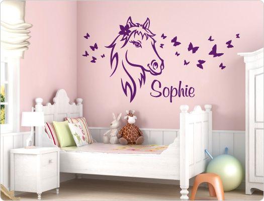 Wandtattoo Pferd Mit Name Kinderzimmer Tapete Zimmer