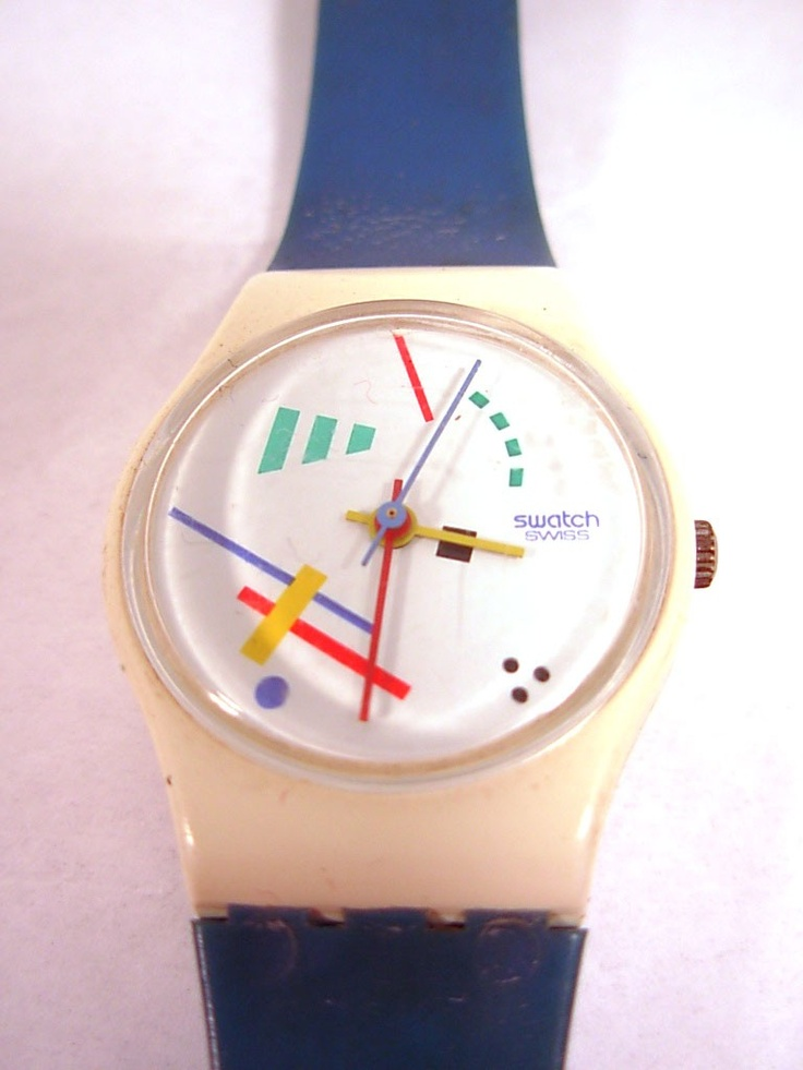 vintage swatch watch 1980s mine looked sort of like this one!