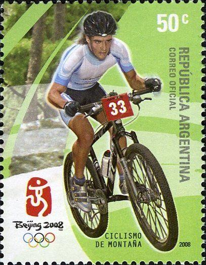 Stamp: Mountain biking (Argentina) (Olympic Games - Beijing 2008) Mi:AR 3176,WAD:AR001.08,Gz :AR 3074