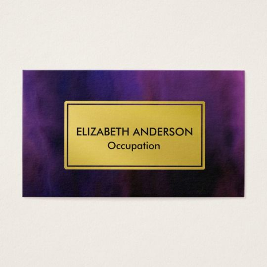 The 282 best business cards and supplies images on pinterest chic grunge nebula purple gold business card colourmoves