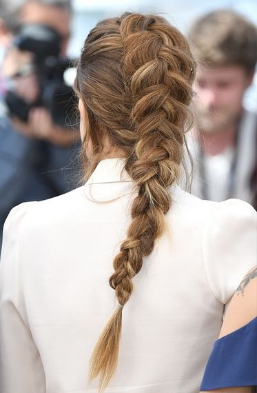 The Most Major Hair and Makeup Moments at Cannes 2016 | People - Riley Keough's inside-out French braid