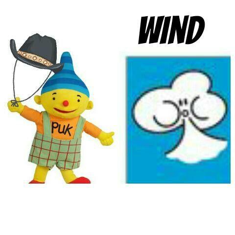 Weerkaart puk wind
