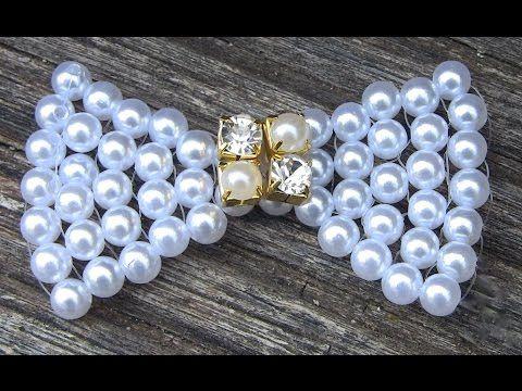 Como fazer um laço em Perolas FACIL -Lace pearls - YouTube