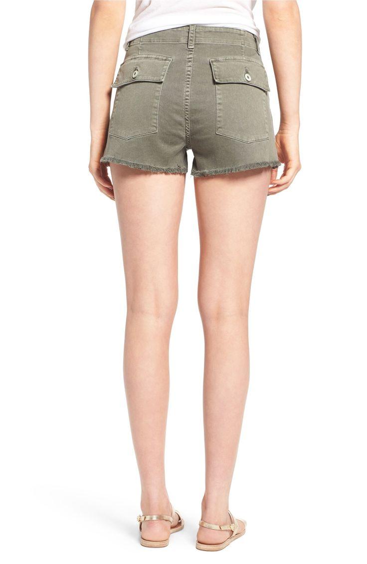 Main Image - Hudson Jeans MKA Military High Waist Shorts