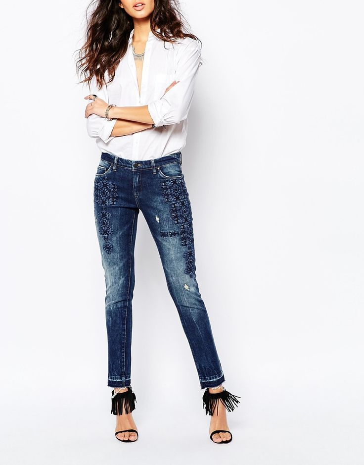 Blank+NYC+Skinny+Jeans+With+Raw+Hem+&+Boho+Embroidery+Detail