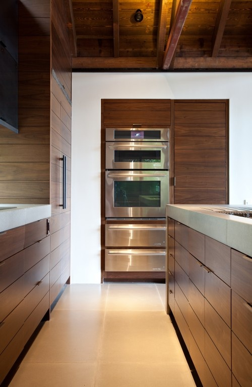 modern kitchen -- like the cabinets and the unobtrusive handles