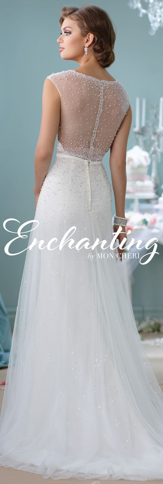 Enchanting by Mon Cheri Spring 2016 ~Style No. 116142 #tulleandsatinweddingdress