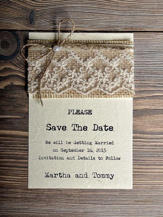convite Save The Date  Rustico