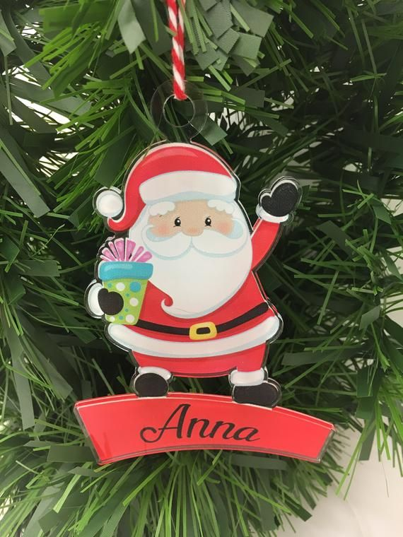 Personalised Acrylic Bauble Christmas Bauble Printed Bauble Elf