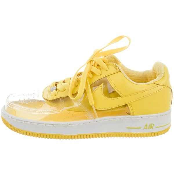 c75406680f1 Pre-owned Nike Air Force 1 PVC Sneakers ( 75) ❤ liked on Polyvore featuring  shoes
