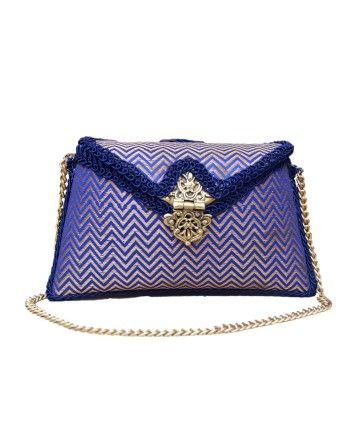 Brocade Zig-Zag Clutch Bag  #ohnineone