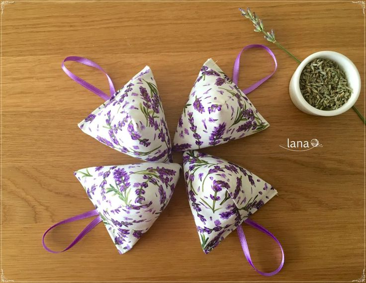 Levanduľové vrecúška / Lavender bags - free pattern