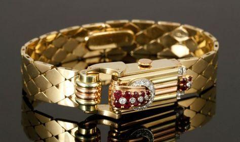 14K Gold, Diamond and Ruby Watch : Lot 5228