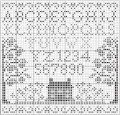 Little Blue Bungalow; free counted cross stitch design