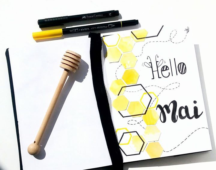 May Cover Page on FB Bullet Journal Group – French Version