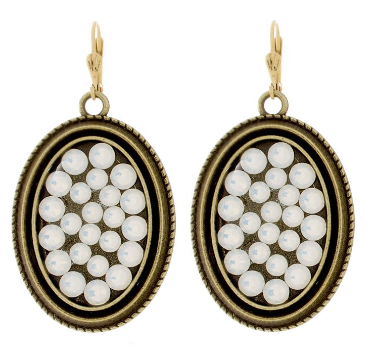 """Victoria Lynn Jewelry """"Beach Bling"""" Earrings White Opal from High Stylin' Boutique"""