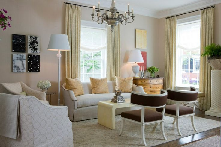 Basha White Interiors designed the living room of the 2009 DC Design House  using our Gabrielle Sofa. www.niermannweeks.com #niermannweeks | Pinterest  ...