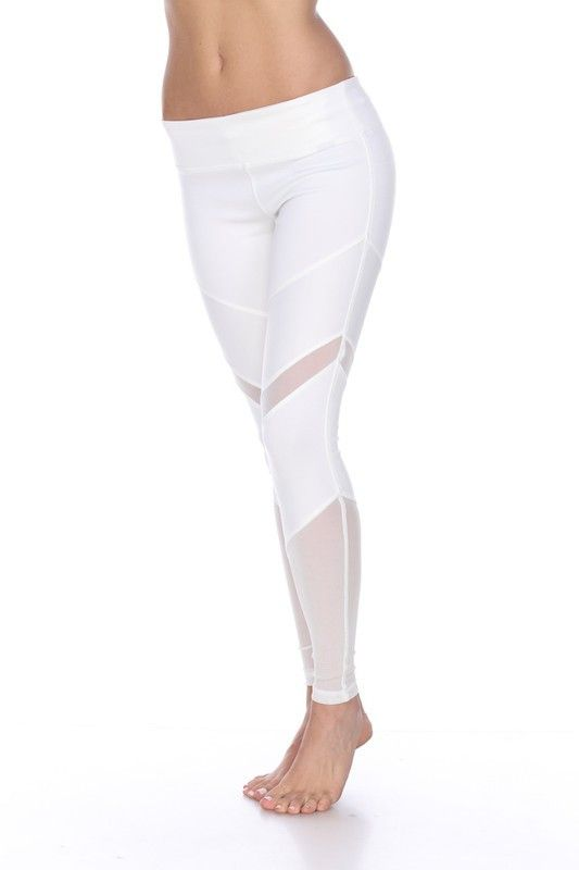 Our White Mesh Performance Legging are designed to give you maximum support while still offering a stylish silhouette you can wear all day!! Strategically placed mesh panels at the thigh and knee will