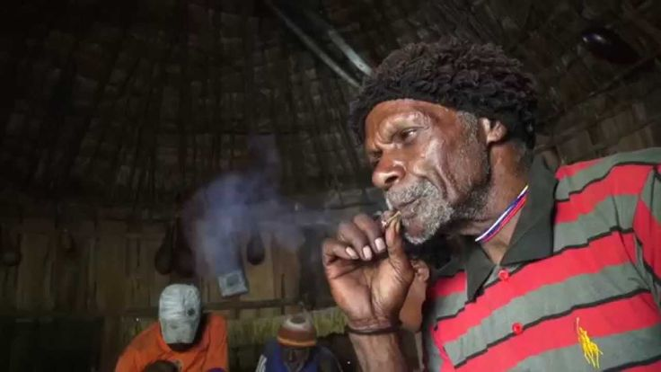A traditional cigar from Baliem Valley, Papua, Indonesia.