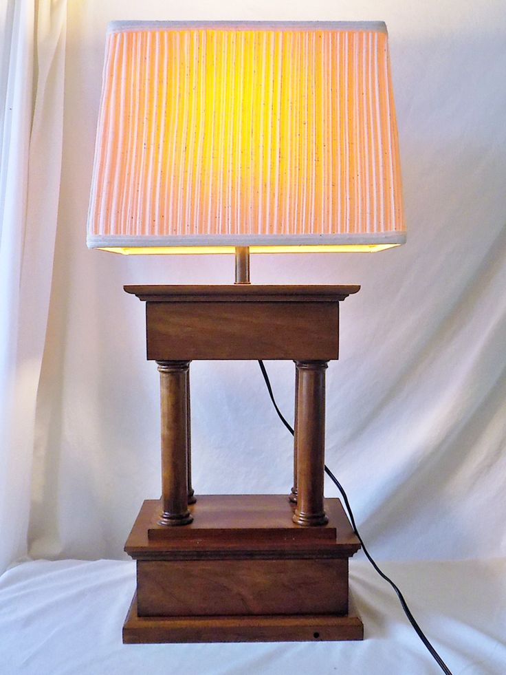 Hand made wooden table lamp design concept piece only one available solid cherry by countryclassics1875