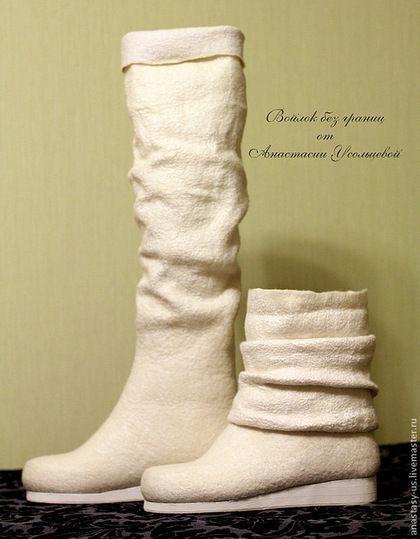 """Обувь ручной работы. Ярмарка Мастеров - ручная работа Сапожки валяные свадебные """" Крещенские морозы"""". Handmade."""