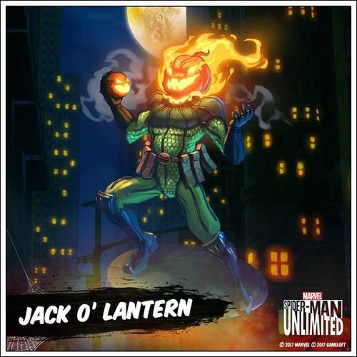 How many Jack O'Lanterns have you already taken down, webheads? Spider-Man Unlimited, November 2017