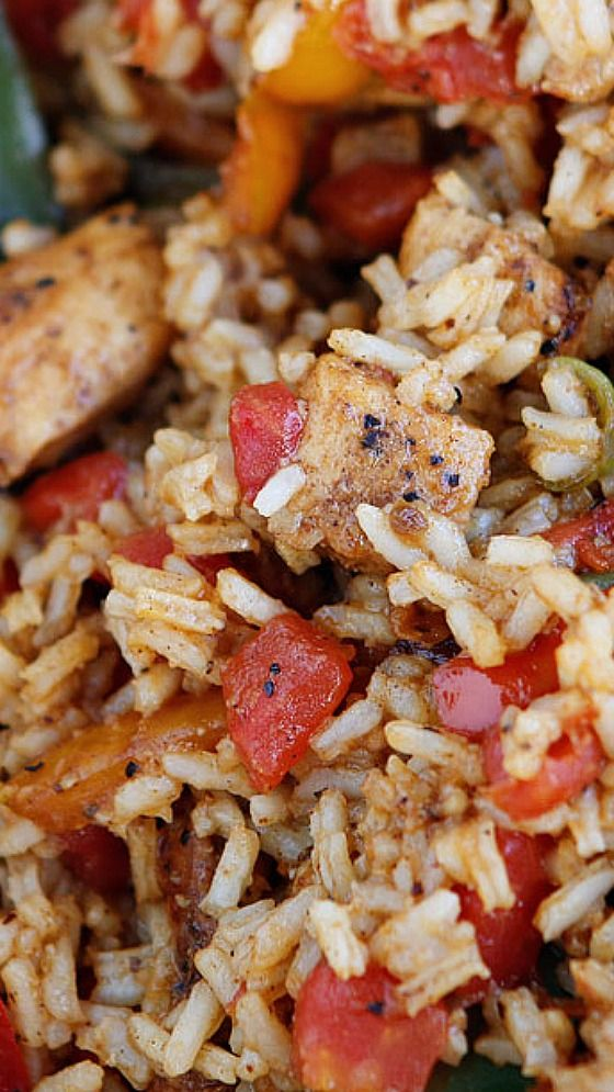 Cajun Chicken & Rice ~ a GREAT quick and easy weeknight dinner that is PACKED with flavor!!