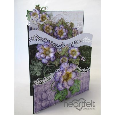 Heartfelt Creations - Cascading Lavender Blooms Foldout Card Project