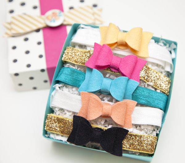 Felt Bow Baby Headbands Gift Set