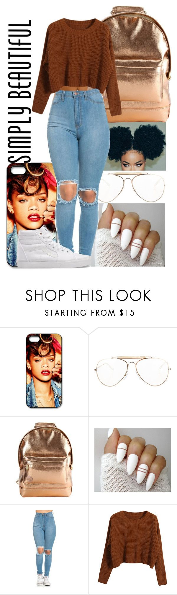 """Simply Beautiful"" by hellacurlz2000 on Polyvore featuring CÉLINE, Mi-Pac, Chicnova Fashion and Vans"