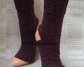 Hand knitted yoga socks Cherry red wool yoga socks*** Dance socks Flip flop socks Pilates socks Pedicure socks Feet warmers Knit leg warmers