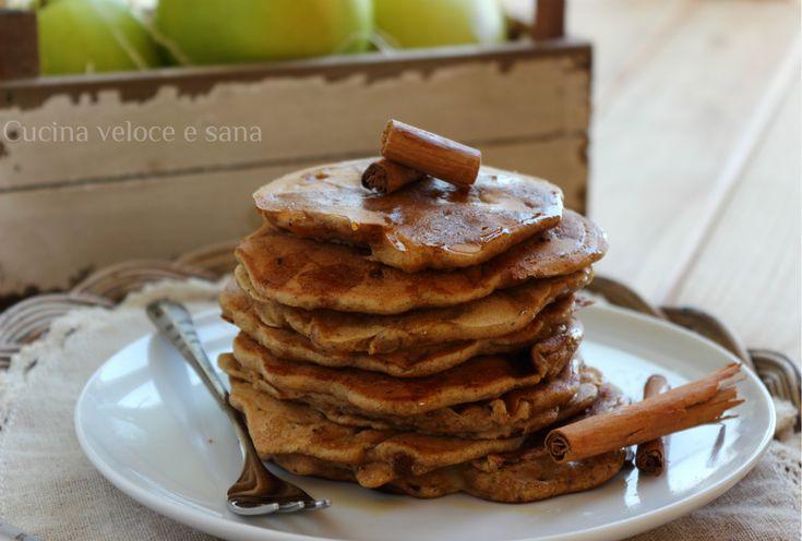 Pancakes integrali alle mele senza uova