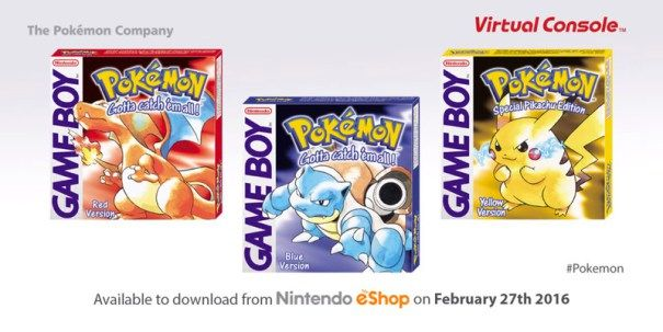 Pokemon Red Blue & Yellow go cheap on Nintendo 3DS this Thursday