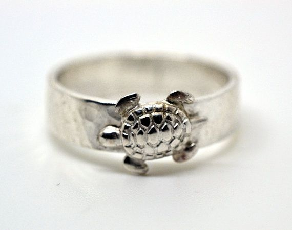 Silver Turtle Ring Sterling Silver Ring Wide Silver by fifthheaven, $50.00