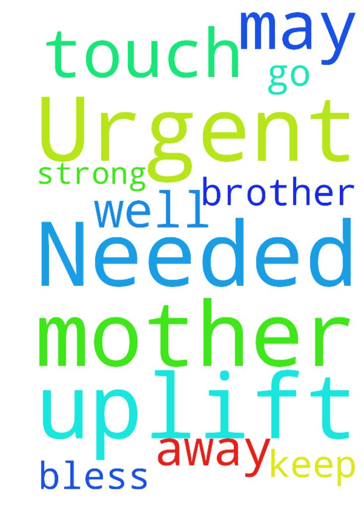 Urgent Prayers Needed, Please to uplift my mother, - Urgent Prayers Needed, Please to uplift my mother, for a strong touch of God. may He keep her and my brother well, as I need to go away. THANK YOU. God bless Posted at: https://prayerrequest.com/t/GBJ #pray #prayer #request #prayerrequest