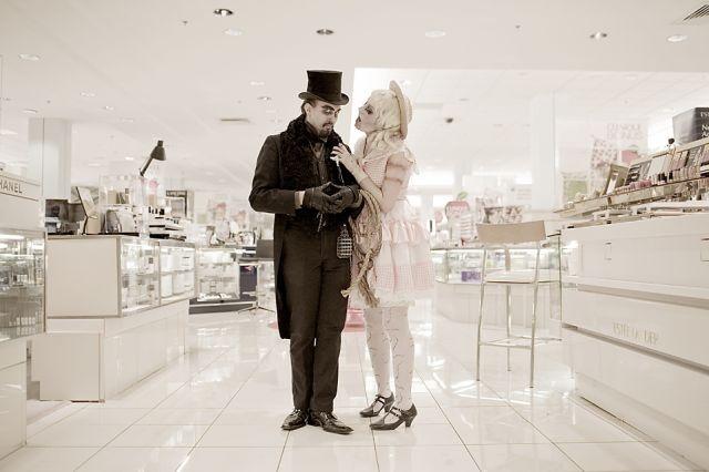 Zombie walk... Monroeville mall, 2009