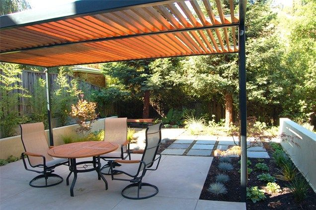 Modern, Pergola Pergola and Patio Cover Huettl Landscape Architecture Walnut Creek, CA
