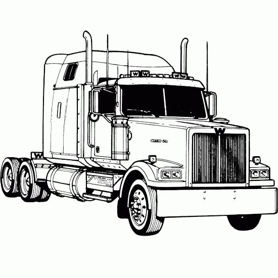 coloring pages of semi trucks - photo#10