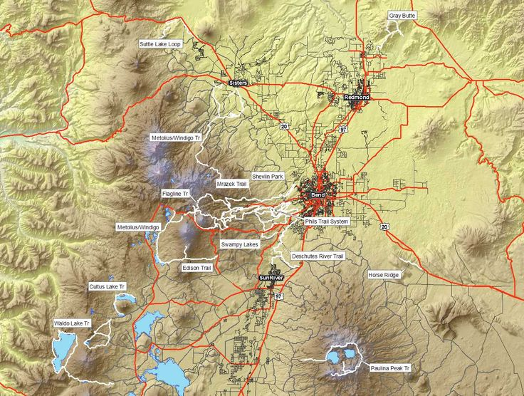 central oregon mtb overview map oregon pinterest