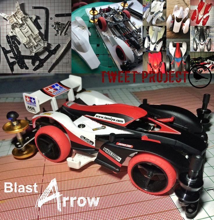 Blast Arrow Tweet Project #TAMIYA #mini4wd #TAMIYA_Indonesia #TAMIYA_Jakarta