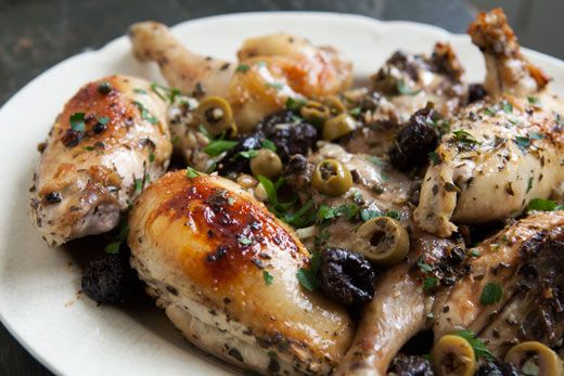 Oldie But Goodie.: Chicken Marbella, Chicken Recipes, Brown Sugar, Dinners Recipes, Red Wine, Maine Dishes, White Wine, Dinners Parties, Silver Palat