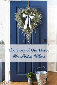 Front Door color- Naval by Sherwin Williams  ( The Story of Our House - On Sutton Place)