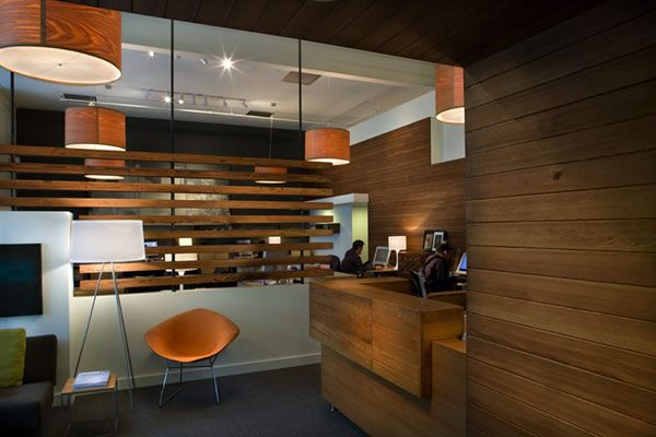 creative agency #lobby design# reception #wood #SanDiegoOfficeDesign #SDOfficeDesign #gorgeousOffice #OfficeDesigner #interiorDesign #TamaraRomeo #BrandedDesign #bestofficedesign #office #commercial